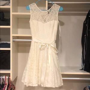 Macy's B&A (Besty&Adam) All White Lace Dress